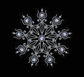 Diamond Snowflake Royalty-vrije Stock Afbeelding