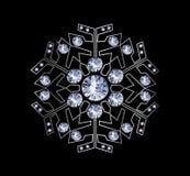 Diamond Snowflake Stock Afbeeldingen