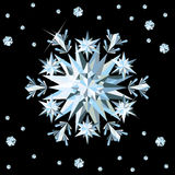 Diamond snowflake card. Stock Photography