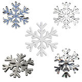 Diamond snowflake. Christmas background. 3D Diamond snowflake. Christmas background Royalty Free Stock Images