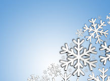 Diamond snowflake. Christmas background. 3D Diamond snowflake. Christmas background Stock Photography