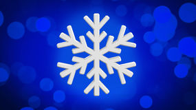 Diamond snowflake. Christmas background. 3D Diamond snowflake. Christmas background Royalty Free Stock Image