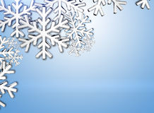 Diamond snowflake. Christmas background. 3D Diamond snowflake. Christmas background Royalty Free Stock Photography