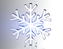 Diamond snowflake. Christmas background. 3D Diamond snowflake. Christmas background Stock Images