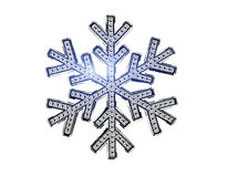 Diamond snowflake. Christmas background. 3D Diamond snowflake. Christmas background Stock Image