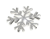 Diamond snowflake. Christmas background Royalty Free Stock Images