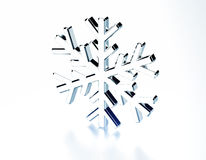 Diamond snowflake. Christmas background Stock Image