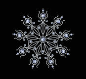 Diamond Snowflake Royalty Free Stock Image