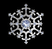 Diamond Snowflake Stock Image