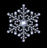 Diamond Snowflake Stock Photo