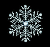 Diamond Snowflake Royalty Free Stock Images