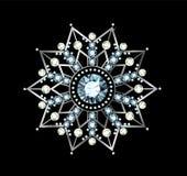 Diamond Snowflake Royalty Free Stock Image