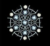 Diamond Snowflake Royalty Free Stock Photography