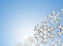 Diamond Snowflake Priorità bassa di natale Fotografia Stock
