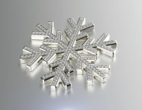 Diamond Snowflake Priorità bassa di natale Fotografia Stock Libera da Diritti