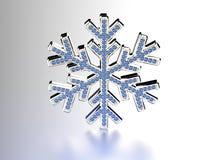 Diamond Snowflake Priorità bassa di natale Fotografie Stock