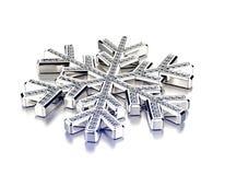 Diamond Snowflake Priorità bassa di natale Immagine Stock Libera da Diritti