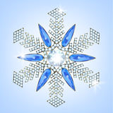 Diamond snowflake Stock Photos