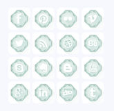 Diamond Social icons. Flat design style Royalty Free Stock Images