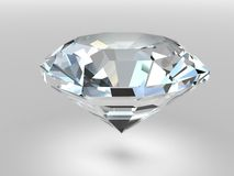 Diamond with soft shadows Royalty Free Stock Photos