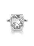 Diamond Solitaire Engagement Ring Royalty Free Stock Photography
