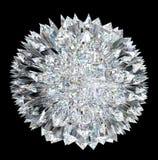 Diamond sphere with stalagmites Stock Photos