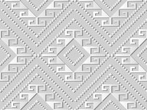 Diamond Spiral Cross Frame Dot-Linie Kunst des Weißbuches 3D Kontroll stock abbildung