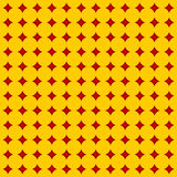 Diamond square pattern. Red diamond square on yellow back pattern Stock Photos