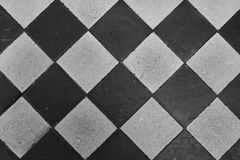 Diamond square tile repeat pattern. Diamond and square pattern floor tiles Royalty Free Stock Photos