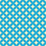 Diamond Star Circle Pattern azul y amarillo Imagen de archivo