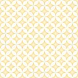 Diamond Star Circle Pattern beige et crème illustration de vecteur