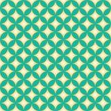 Diamond Star Circle Pattern verde y amarillo Imagen de archivo libre de regalías