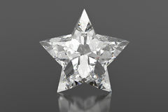 Diamond star on a gray background Royalty Free Stock Images