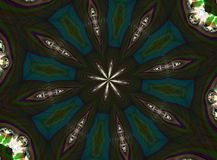 Diamond Star Kaleidoscope Royaltyfri Bild