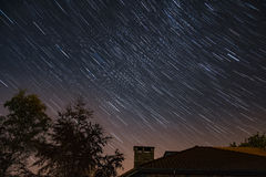 Diamond Star trail Stock Photography