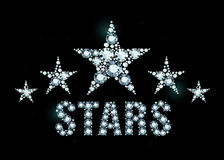Diamond stars Royalty Free Stock Images