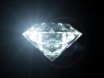 Diamond Stone. On black space vector illustration