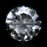 Diamond stone on black space Royalty Free Stock Photography
