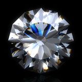 Diamond stone on black space Royalty Free Stock Photos