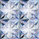 Diamond stone seamless wallpaper, vector Royalty Free Stock Images