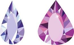 Diamond stones set Royalty Free Stock Photography