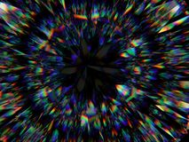 Diamond structure extreme closeup and kaleidoscope. Top view of round gemstone 3d render, 3d illustration royalty free illustration