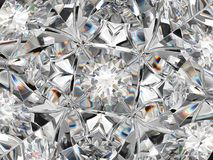 Diamond structure extreme closeup with kaleidoscope effect Royalty Free Stock Image