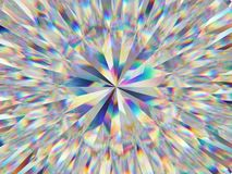 Diamond structure extreme closeup and kaleidoscope. Top view of round gemstone 3d render, 3d illustration stock illustration
