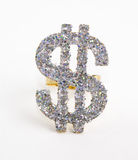 Diamond studded dollar bill Royalty Free Stock Photo