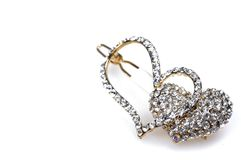 Diamond studded hair clip jewellery Stock Image