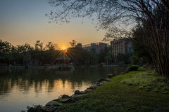 Diamond Sunrise in National Taiwan University Stock Images
