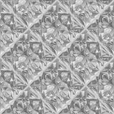 Diamond surface seamless pattern. Vector colorless gray halftones crystal jewel stone surface seamless pattern Stock Photo