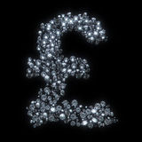 Diamond symbol currency - pound Stock Images