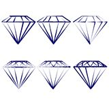 Diamond symbols  set    vector illustration Stock Image